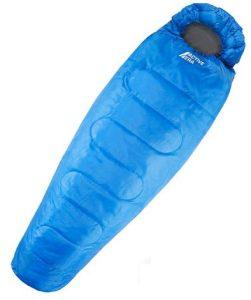 Saco de Dormir Tipo Momia 300 gm2 3-4 Estaciones. Capucha y Cuello con cordón