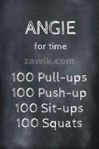 WOD Chica Crossfit Angie