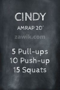 WOD Chica Crossfit Cindy