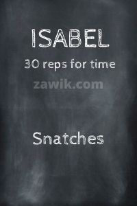 WOD Chica Crossfit Isabel