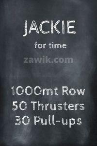 WOD Chica Crossfit Jackie