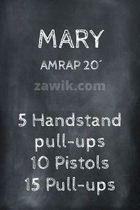 WOD Chica Crossfit Mary